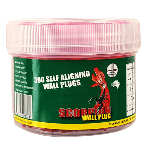 300 pieces Scorpion Self-Aligning Wall Plugs per container